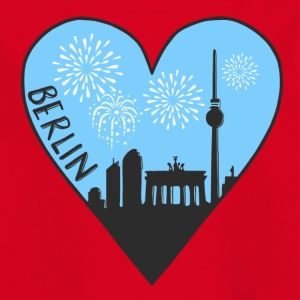 Berlin by night, heart, city, I love, Silhouette - Kids' T-Shirt