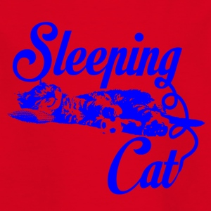 Sleeping cat blue - Kids' T-Shirt