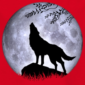 Wolf Vollmond Halloween Nacht Albtraum nightmare - Kinder T-Shirt