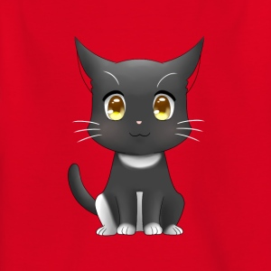 Funny black cat - Kids' T-Shirt