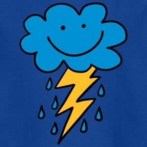 Funny cloud with flash, raindrops, comic, emoji - Teenage T-shirt