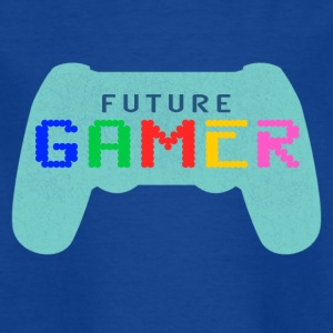 Blue Future Gamer Design by JuiceMan Benji Gaming - Teenage T-shirt