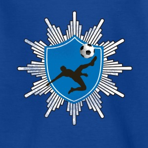 Football coat of arms ball goal shooting club team mostly - Teenage T-shirt