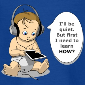 baby with headphones - Teenager T-shirt