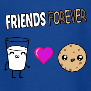 Mælk og Cookie Venner Kawaii Design - Teenager-T-shirt