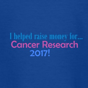 CANCER RESEARCH 2017! - Teenage T-shirt