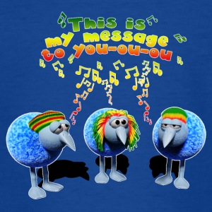 Three little RASTA birds - Teenage T-shirt
