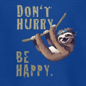 sloth Faultier chillen sleep Slow happy Humor fun - Teenager T-Shirt