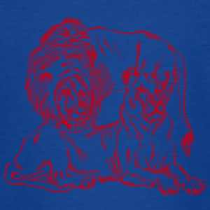 lion family red - Teenage T-shirt