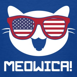 Kat! Kat! Amerika USA! Cat lovers! sjovt! - Teenager-T-shirt