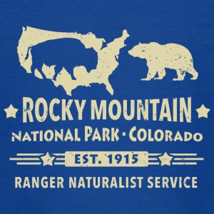 Bison Grizzly Rocky Mountain National Park Mountains - Teenage T-shirt