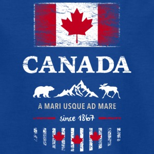 Canada Canada America maple leaf flag banner Bear - Teenage T-shirt