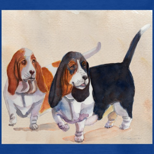 Basset hound_double-trot - Teenager-T-shirt