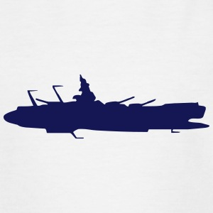 Ruimteschip vector silhouet - Teenager T-shirt