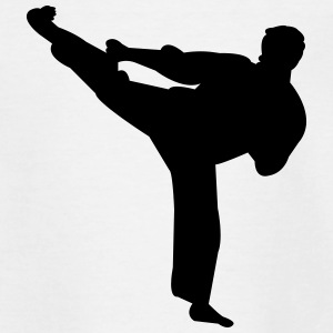 Kung fu fighter silhouette 4 - Teenage T-shirt