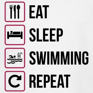 Eat Sleep Swimming Repeat - T-shirt tonåring
