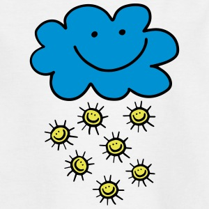 Funny cloud with sun, summer, spring, weather - Teenage T-shirt