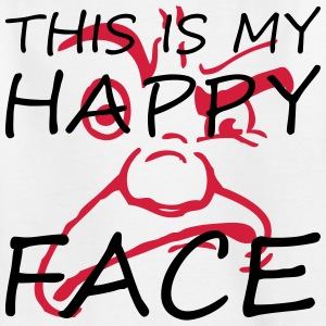 This is my happy face - Teenager T-Shirt