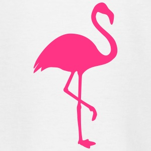 Flamingo black - Teenage T-shirt