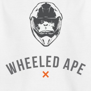 Two Wheeled Ape Biker T-shirt Black - Teenage T-shirt