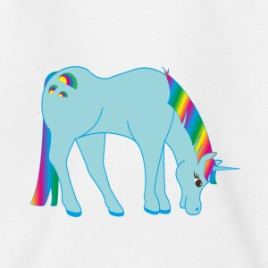 einhornblau - Teenager T-Shirt