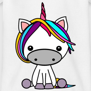 Buntes Einhorn - Teenager T-Shirt