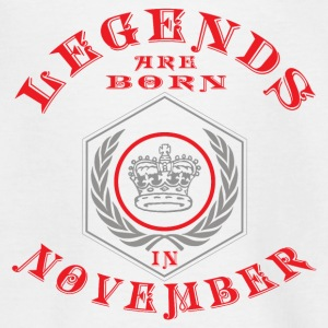 Legends November født fødselsdagsgave Young - Teenager-T-shirt