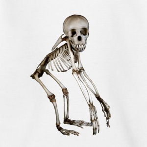 Baby Chimp Skeleton by Wild World Designs (WWD) - Teenage T-shirt