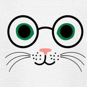 Katze Brille - Teenager T-Shirt