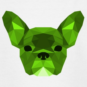Low Poly Frenchie groen - Teenager T-shirt