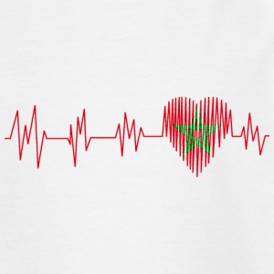 Morocco Morocco المغرب Heart pulse heart beat - Teenage T-shirt
