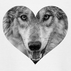 A heart for Wolves - Teenage T-shirt