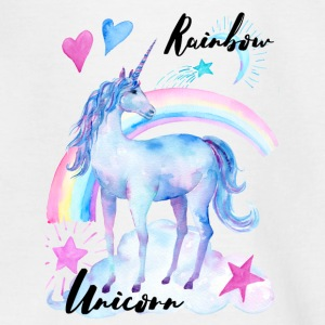 Rainbow Unicorn / Regenbogen Einhorn - Teenager T-Shirt