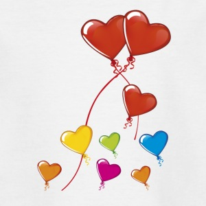 Hearts balloons - Teenage T-shirt