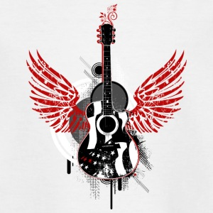 Gitarre guitar Flügel wings Graffiti Musik music - Teenager T-Shirt