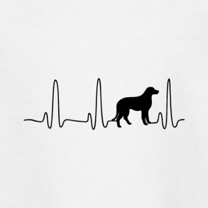 EKG Heart Line Hond - Teenager T-shirt