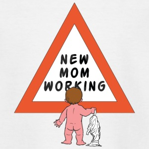 New Mom Changing Diapers - Teenage T-shirt