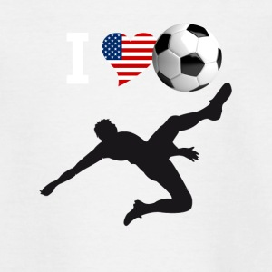 i Love but de vélo de soccer kick football magistral - T-shirt Ado