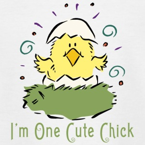 Easter I Am One Cute Chick - Teenage T-shirt