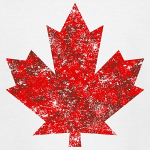 Kanada Canada Maple Leaf Ahornblatt Grunge Amerika - Teenager T-Shirt
