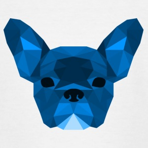 Low Poly Frenchie blauw - Teenager T-shirt