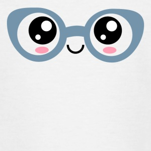 Kawaii, eyes, glasses, anime, manga, comic, comics - Teenage T-shirt