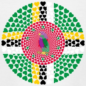 Dominica Caribbean Love HEART Mandala - Teenage T-shirt