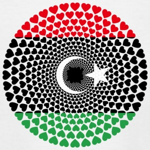 Libya Libyen ليبيا Love HERZ Mandala - Teenager T-Shirt