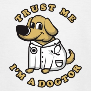 Veterinarian and dog friend - Teenage T-shirt