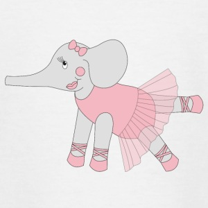Ballerina Elefant - Teenager T-Shirt