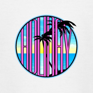 Holiday palm strand zee 03 round ontwerpen - Teenager T-shirt