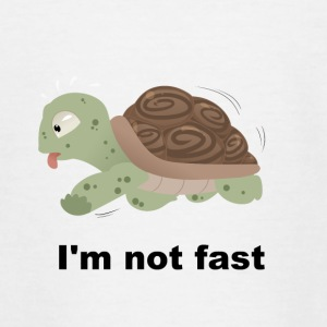 I'm not fast - Schildkröte - Teenager T-Shirt