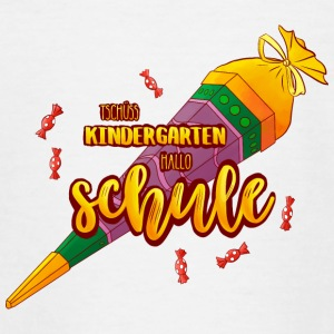 Tschüss Kindergarten, hallo Schule (rote Version) - Teenager T-Shirt