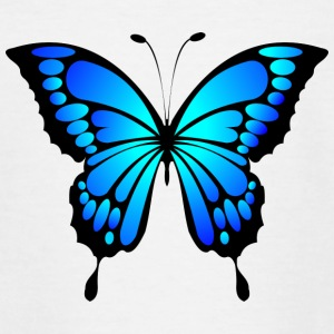 Schmetterling blau - Teenager T-Shirt